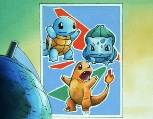 squirtle charmander bulbasaur poster