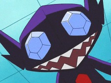 sableye anime close up grainy