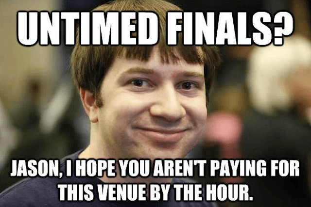 ross cawthon meme untimed finals