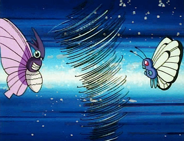 butterfree venomoth battle