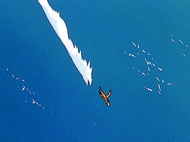 dragonite flying over ocean movie