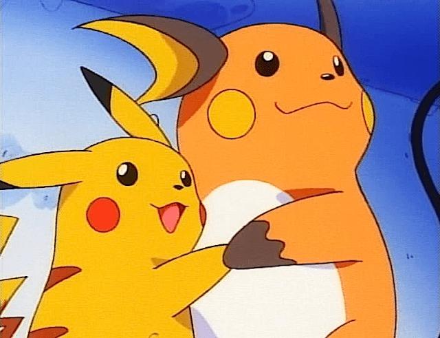 pikachu raichu hug dance