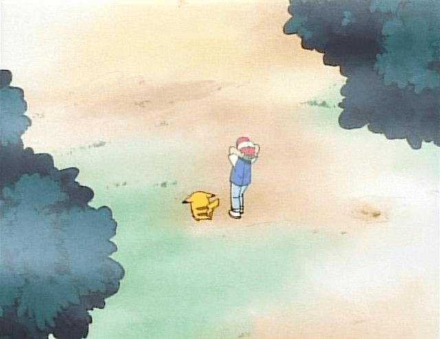 ash pikachu walking mist