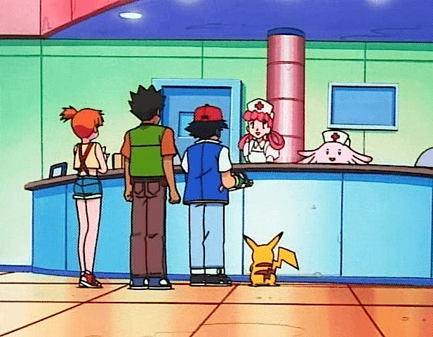 nurse joy chansey pokemon center