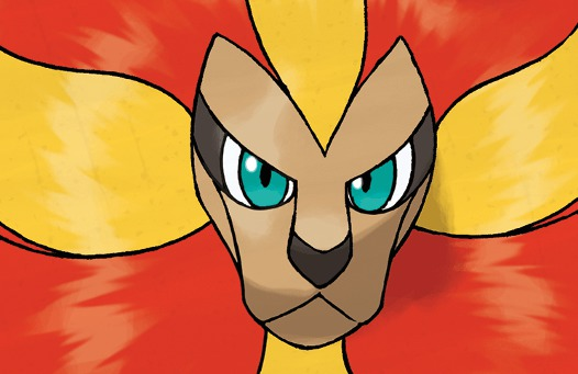 pyroar male closeup