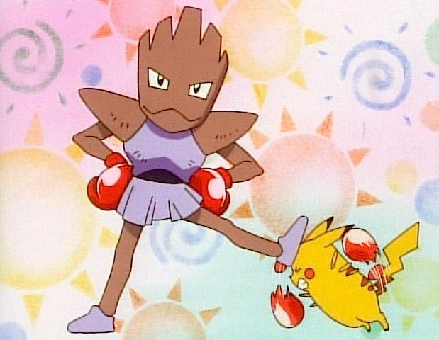 hitmonchan pikachu boxing disadvantage