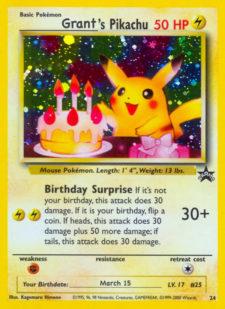 thevilegarkid grant birthday pikachu
