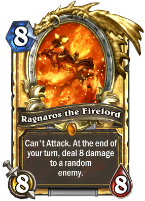 ragnaros the firelord golden