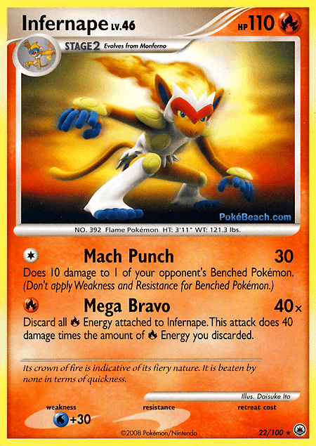 card of the day infernape majestic dawn md 22 pokemon tcg tips
