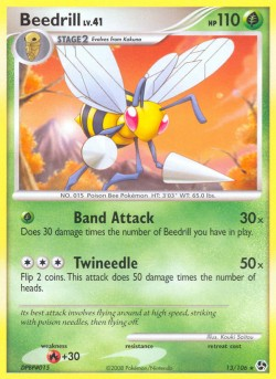 Beedrill Great Encounters GE 13 Pokemon Card