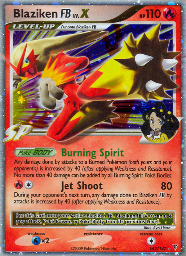 Blaziken FB LV.X Supreme Victors SV 142 Pokemon Card