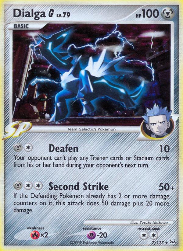 Dialga G Platinum PL 7 Pokemon Card