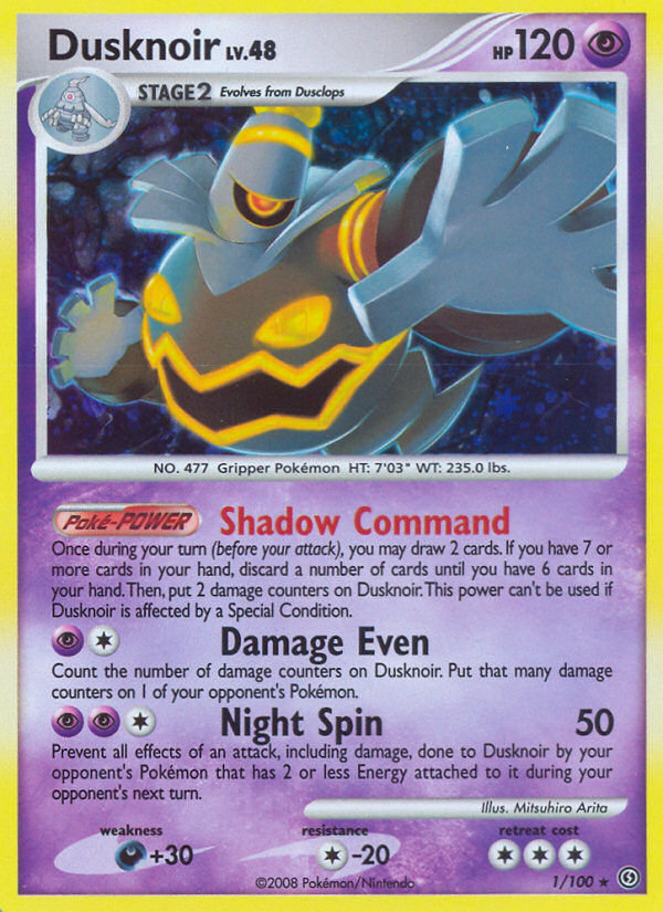 Dusknoir Stormfront SF 1 Pokemon Card