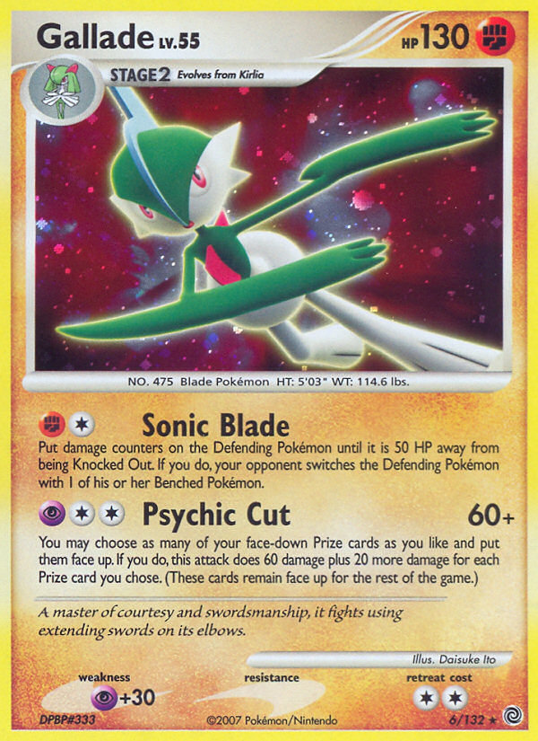 Gallade Secret Wonders SW 6 Pokemon Card