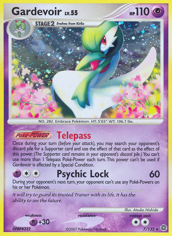 Gardevoir Secret Wonders SW 7 Pokemon Card