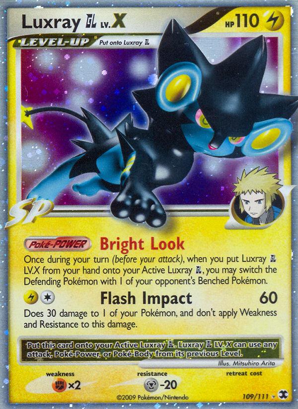 Luxray LV.X Rising Rivals RR 109 Pokemon Card