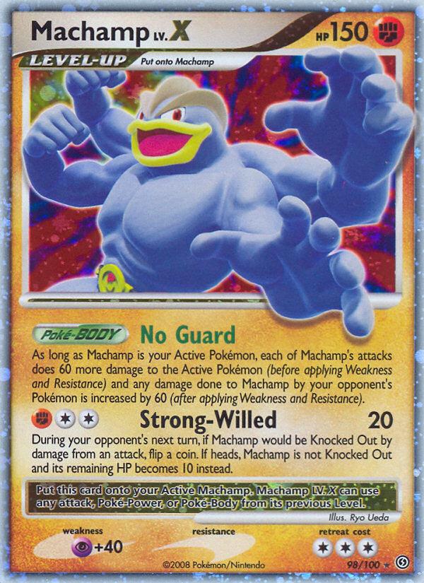 Machamp LV.X Stormfront SF 98 Pokemon Card