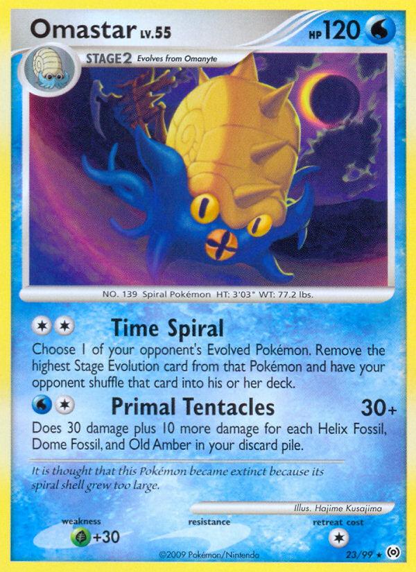 Omastar Arceus AR 23 Pokemon Card