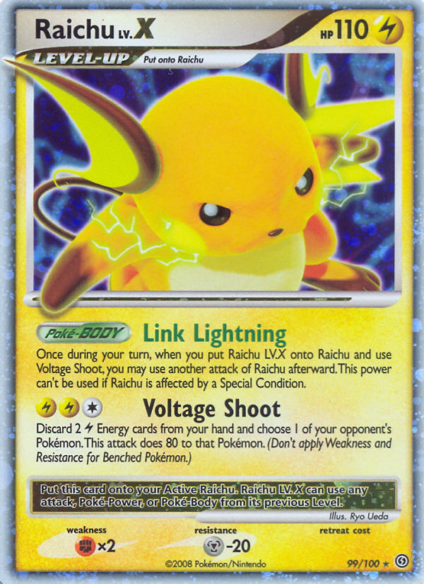 Pokemon Card of the Day – Raichu LV.X Stormfront SF 99