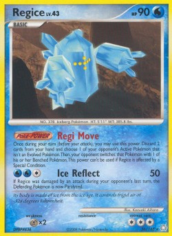 Regice Legends Awakened LA 36 Pokemon Card