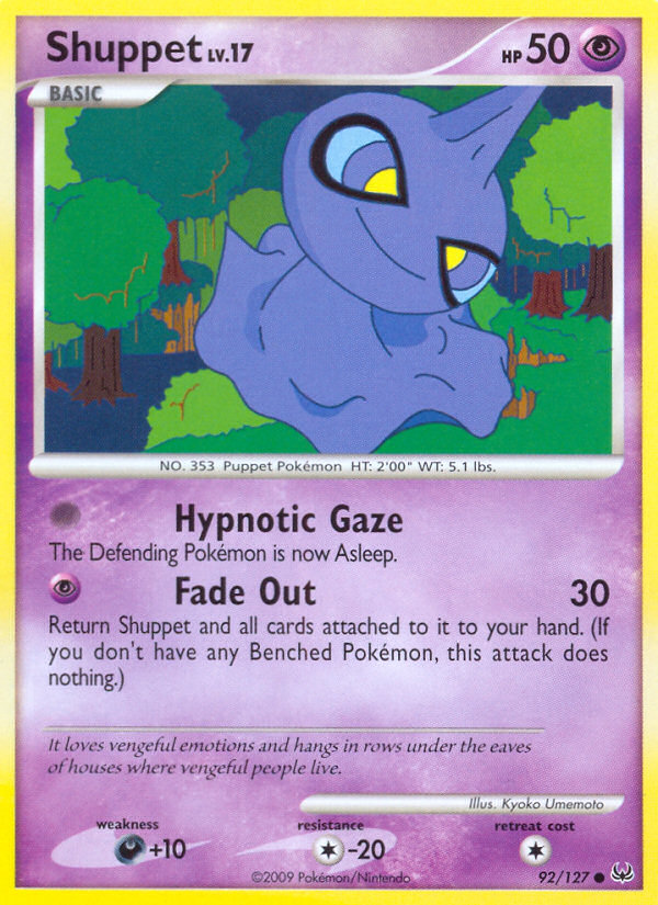 Shuppet Platinum PL 92 Pokemon Card
